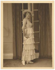 Tragic Stage/Screen Star Jeanne Eagels Orig. 1910s Elegant Edwardian Photograph