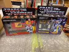 Autobot Blaster & Decepticon Soundwave Buzzsaw Sealed - Transformers G1 Reissue