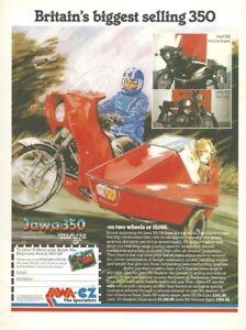 1970's A4 Single-Page Motorcycle Magazine Advertisement - Jawa 350 De Luxe CZ350