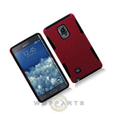 Hybrid Mesh Case for Samsung Galaxy Note Edge Red Cover Shell Protector Guard