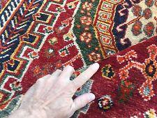 Vintage Traditional Persian Shiraz Rug Wool Oriental Hand Made Rug 230x152cm