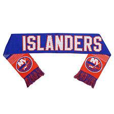 NY NEW York Islanders Reversible Scarf Knit Winter Neck NEW NHL - Split Logo