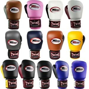 Twins 2 Tone Boxing Gloves Adult Muay Thai Sparring Gloves 10oz 12oz 14oz 16oz
