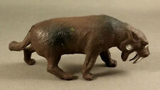 Inpro Smilodon Vintage 1970s Hong Kong Plastic Dinosaur Prehistoric Mammal