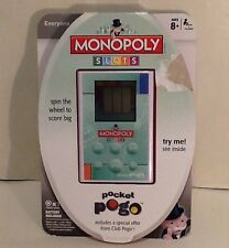 Monopoly Slots Pocket Pogo Handheld Game Spin The Wheel To Score Big, w/ Battery