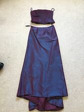 Monsoon Blue/Plum 2 Part Fish Tail Dress Ball Gown Bridesmaid Size 10