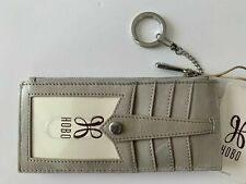 NWT HOBO THE ORIGINAL VINTAGE LINN CLOUD GREY LEATHER CARD HOLDER ID WALLET