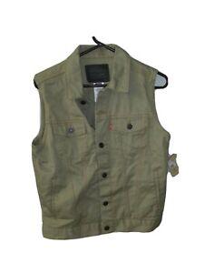Levis Trucker Vest Boys Size Large