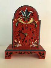 Hella Pope European Decorative Tole Painting Clock