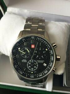 Herren Armband Uhr  Edelstahl  Swiss Military 20042ST-1M NEU mit Etikett in OVP