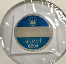 ROLEX 6204 Steel Caseback Blue Sticker Certificate 1950's Submariner James Bond
