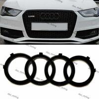 Black Gloss Front Grille Badge Rings Logo Emblem Audi A5 A6  Sline 273x94