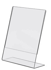100 - 8.5 x11 Clear Acrylic Slanted Sign Holder Display Easels wholesale lot