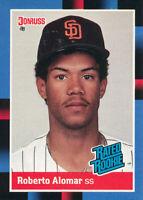 Roberto Alomar 1988 Donruss San Diego Padres RC Rookie card Hall of Fame HOF #34