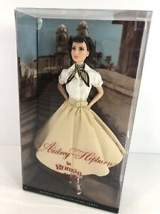 Audrey Hepburn in Roman Holiday Pink Label Collector Model Muse Barbie NRFB