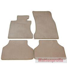 Premium terciopelo tapices beige para bmw 5er e60 + e61 a partir del año 2003 - 2010