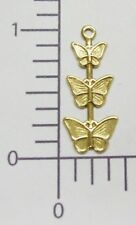 Butterfly Jewelry Finding Charm Sale 35081 12 Pc Antique Gold Triple