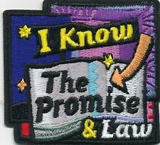 Girl I KNOW the PROMISE & the LAW Fun Patches Crests Badge SCOUT GUIDE saying