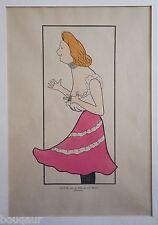 Leonetto CAPPIELLO Nos Actrices CASSIVE dame Maxim's Revue Blanche Pochoir 1899