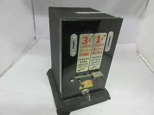 VINTAGE SCHERMACK STAMP VENDING MACHINE COUNTER DISPLAY ADVERTISING   468-S