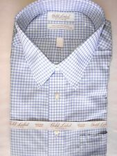 Roundtree Yorke Gld Lbl Fitted Dress Shirt * 17 - 36 Blue Gingham Royal Oxford
