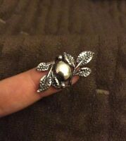 .925 Genuine Sterling SILVER  Ring Jewelry Size 5.5