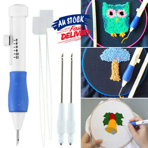 Pen Set Poking Stitching Punch Needle Kit  Sewing Tools Embroidery  DIY Crafts