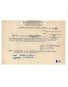 Thomas Karnes Signed 509th CG Document BAS D87927 Group Adjutant, Wendover, UT