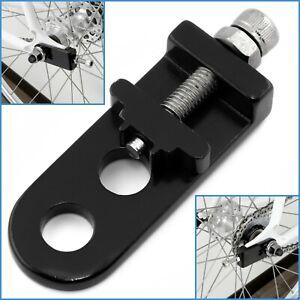 Black Aluminium BMX Bike Fixie Chain Tensioner Bicycle Adjustable Single Speed