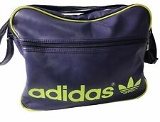 Adidas AIRLINER School Shoulder Bag Messenger Purple Neon Green Handbag *RARE