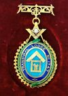 Antique South African 1897 Masonic 18K Gold Jewel Medal W/ Enamel And Diamond