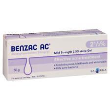 BENZAC AC ACNE GEL 2.5%25 50G BENZOYL PEROXIDE UNBLOCKS PORES BLACKHEAD WHITEHEAD