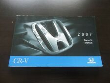 N328 - 2007 HONDA CR-V OWNER'S MANUAL