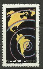 Brasil. 1988. America's Telecom 88 Conmemorativa. Sg: 2313. menta nunca con bisagras.