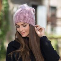 Rabbit Fur Beanie Hat Women Autumn Winter Skullies Warm Gravity Falls Cap m