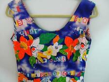 Jams World 36 Bust Sun Dress 5 Hibiscus Blue Fitted Sheath Wiggle Fast Free Ship