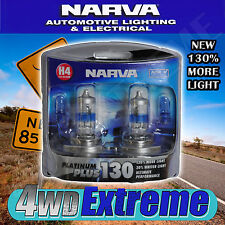 NARVA HIGH QUALITY H4 HEADLIGHT GLOBES PLATINUM 130 + ADR CAR APPROVED 48542BL2
