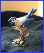 BRAND NEW Blue Bird Limoge style enameled metal trinket box   FREE SHIPPING !!