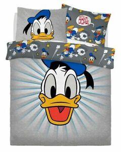 Oficial Disney Donald Pato 'Gráfico' Cama Doble Juego Colcha Edredón