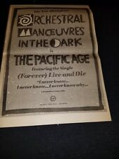 Omd The Pacific Age Rare Original Uk Promo Poster Ad Framed!