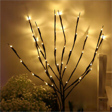 LED Xmas Decorative Twig Branch Fairy Lights with Flowers Effect Home Lighting