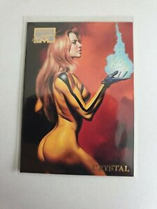 1996 Marvel Masterpieces Base #9 Crystal NM