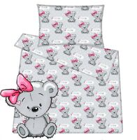 Crib Moses basket Baby cot Toddler cot bed duvet cover pillowcase 100% cotton