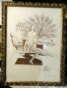 RARA SERIGRAFIA - P.A. PROVA D'ARTISTA di GUIDO CREPAX - 1981 - IN CORNICE