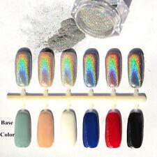 Rainbow Holographic Laser Powder Nail Glitter Chrome Pigments Decoration 1Box=2g