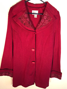 Special Occasions by Anthony Sicari Embellished Trim Heavy Weight Sweater M
