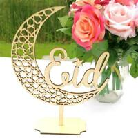 Retro Wood Eid Mubarak Hanging Ornament Muslim Ramadan Pendant Decoration Gift