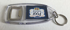 KRONENBOURG 1664 BOTTLE OPENER KEYRING - KEY RING - BAR PUB LAGER HOME BAR