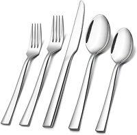 60-Piece Modern Kitchen Silverware Set ,Stainless Steel Flatware Cutlery Set