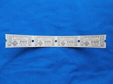 Vintage Paramount Theatre Pass Tickets (Strip of 4) Drive-In Movie/Cinema - CT